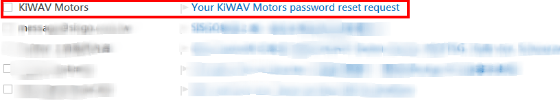 KiWAV Motors member reset password step3