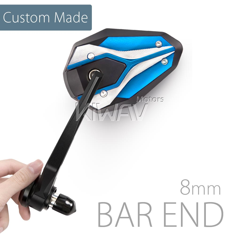 [Custom Made]<br> Viper II Tblue bar end mirrors