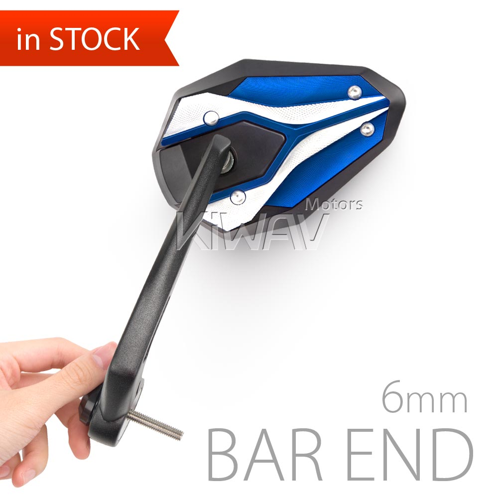 ViperII blue bar end mirrors 6mm