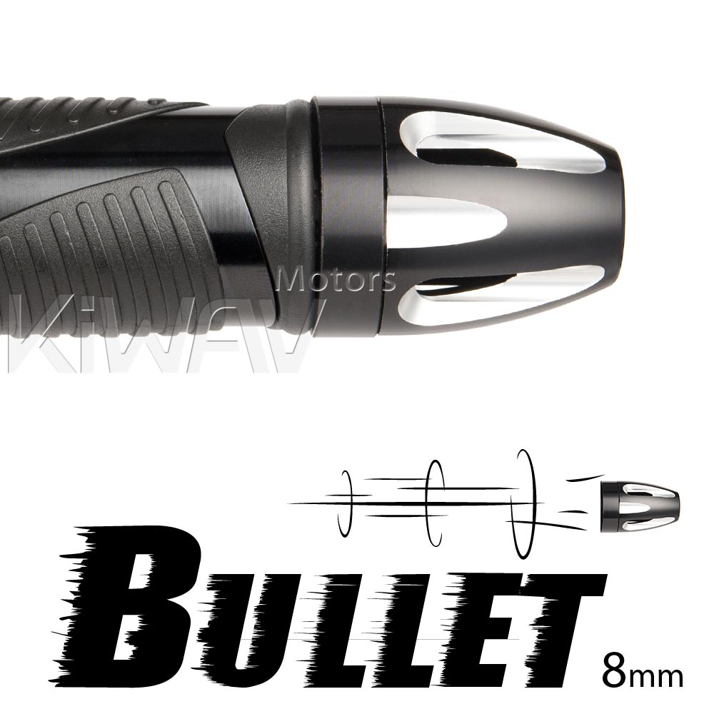 Bullet bar ends with regular weight base