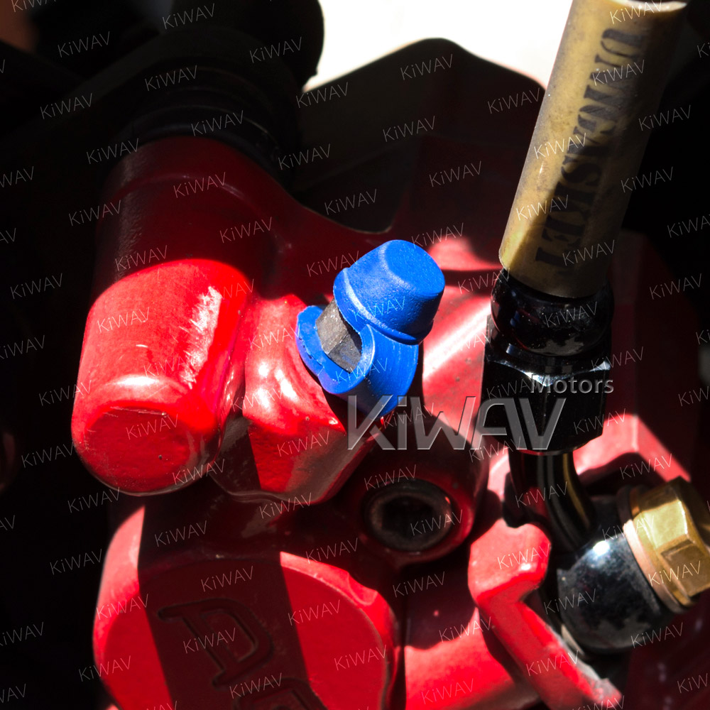 brake caliper bleeder rubber cap blue