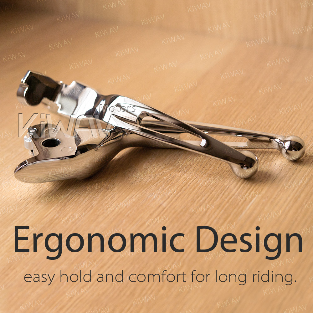 KiWAV Hand Control Brake Clutch Lever Chrome 3-Slot compatible with Harley 14-16 FLHR /& FLHRC /& 08-13 Touring /& Trike