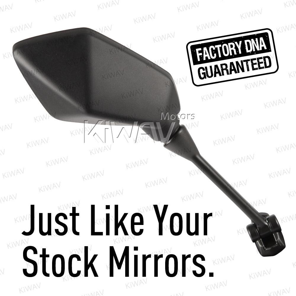 BikeMaster OEM Replacement Mirror Right Black  FK-873R