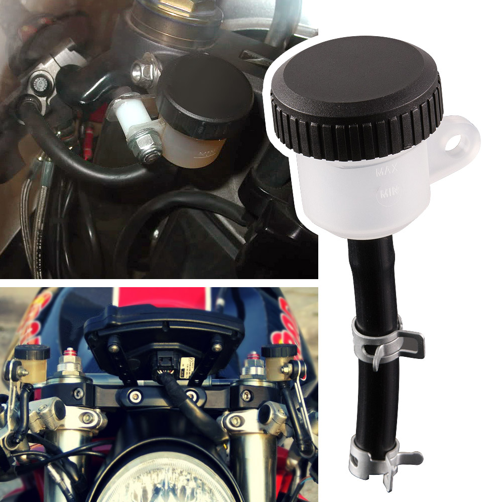 Motorcycle Front Brake Master Cylinder Oil Fluid Reservoir - Straight Type