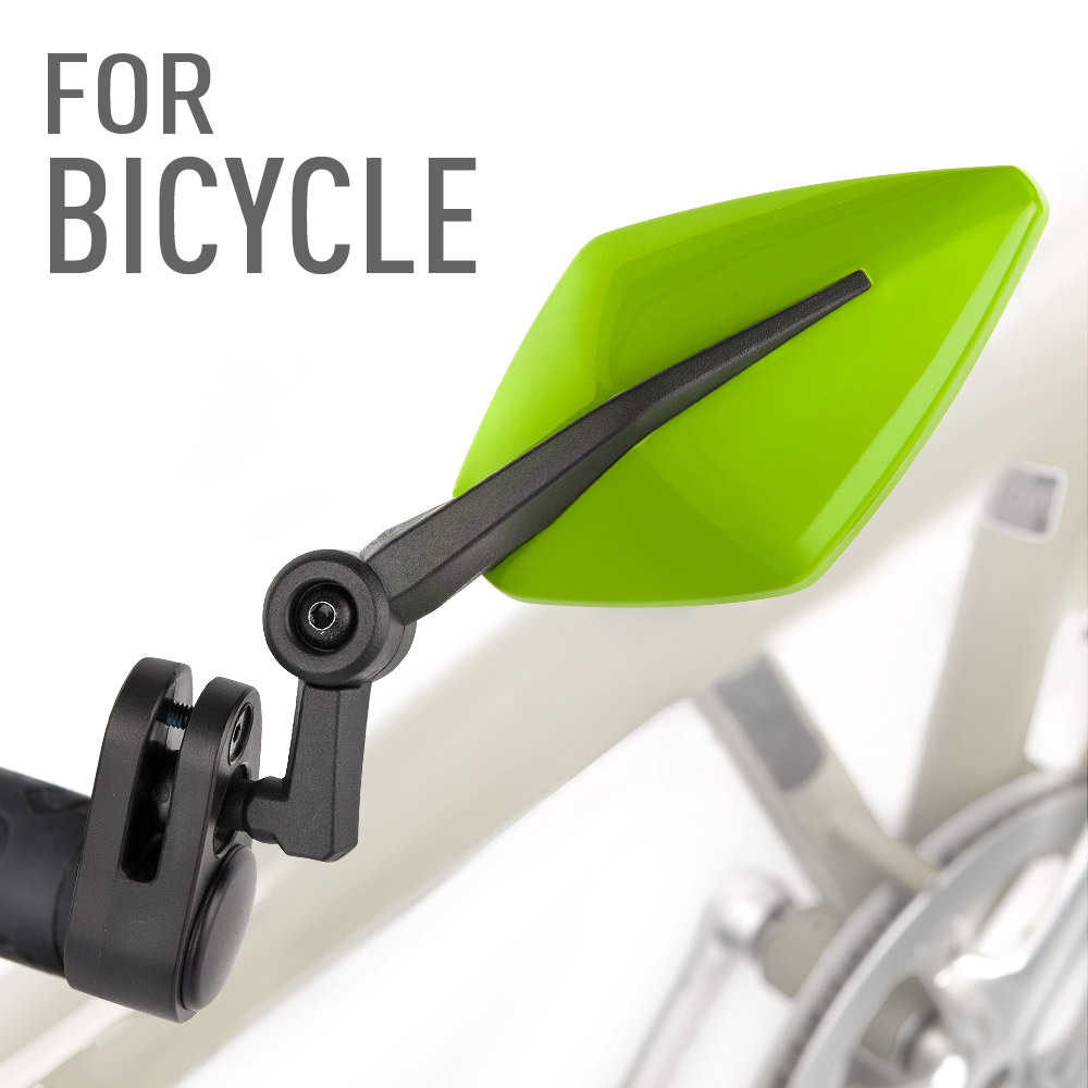 Elf green bar end mirrors for bicycle