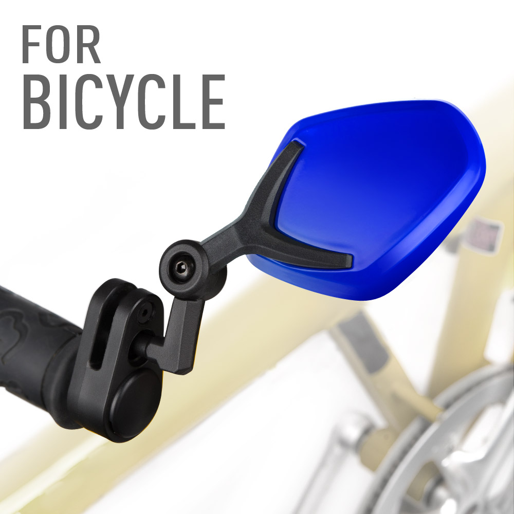 Petal blue bar end mirrors for bicycle