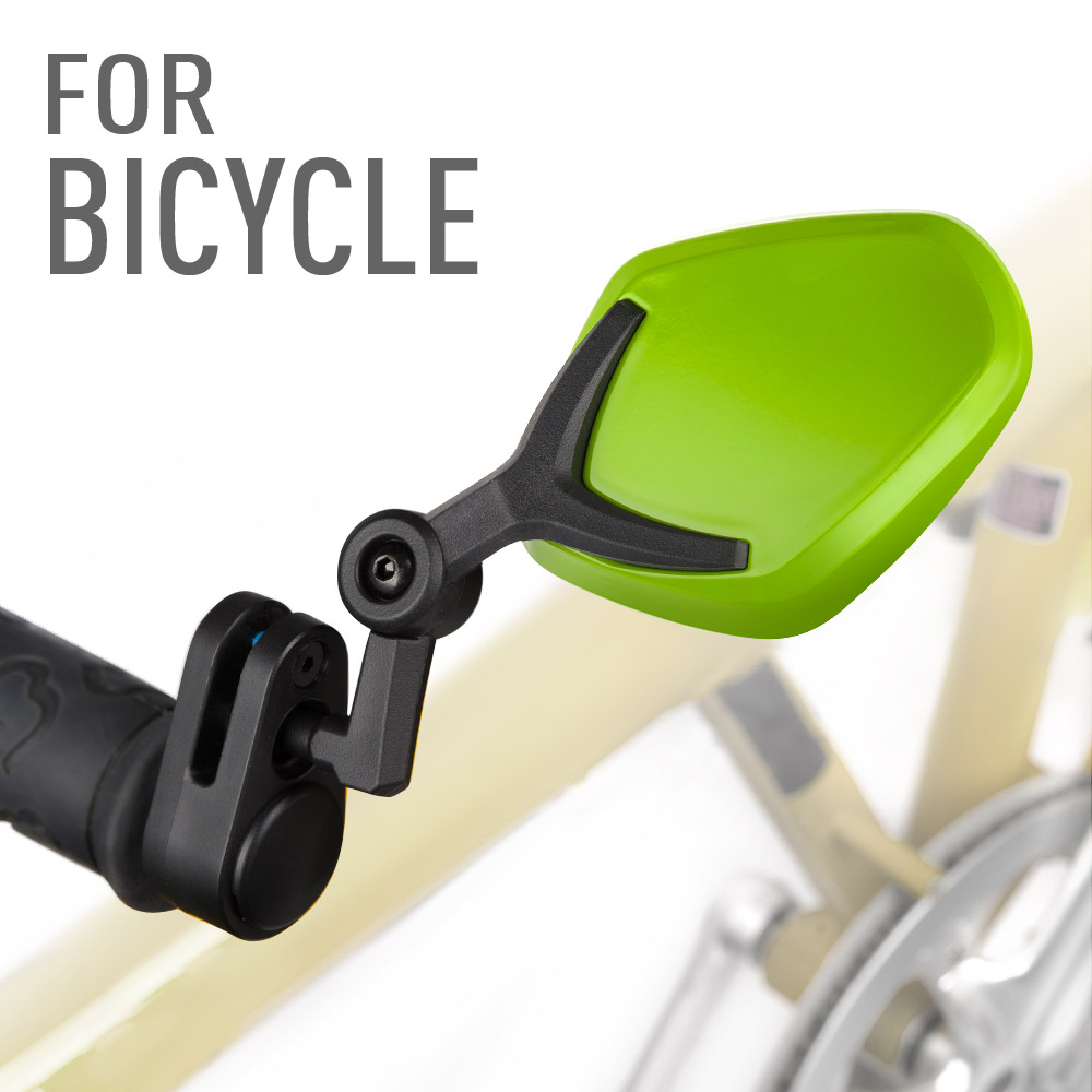 Petal green bar end mirrors for bicycle