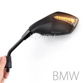 Magazi Fist black LED turn signal motorcycle mirrors for BMW, street bike,sport bike,BMW 1.5pitch 10mm mirror thread adapter, R1200GS, R1200GS ADV, R1200ST, R1200GSW, R1200GSW ADV, R nine T, K1200R, K1200R sport, K1300R, F650GS, F800R, HP2 Enduro,HP2 Meg