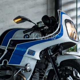 BMW 100RS custom motorcycle mirrors fist LED turn signal