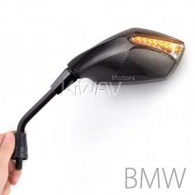 Magazi Fist carbon LED turn signal motorcycle mirrors for BMW street bike,sport bike,BMW 1.5pitch 10mm mirror thread adapter, R1200GS, R1200GS ADV, R1200ST, R1200GSW, R1200GSW ADV, R nine T, K1200R, K1200R sport, K1300R, F650GS, F800R, HP2 Enduro,HP2 Meg