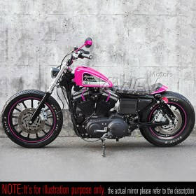 pink mirror harley moyorcycle