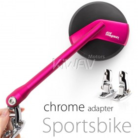 fairing mount rearview mirror, super bike, SUZUKI, KAWASAKI, YAMAHA pink