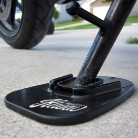motorcycle motorcross black kickstand pad universal fit KiWAV motion pro