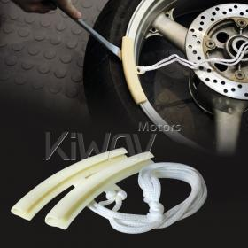 motorcycle wheel rim protector remove/fit/change tire reduce damage KiWAV