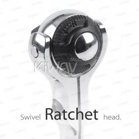 Two innovative actions in one ratchet. Use as a 3/8