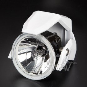 Magazi NS-41 round fog auxiliary light - white for tube mount