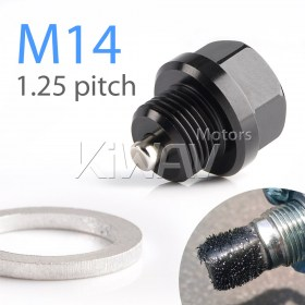 Magazi anodized black aluminum magnetic oil drain bolt plug M14 x P1.25 FOR ROAD BIKE, Suzuki
