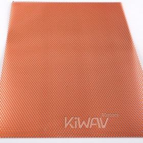 Magazi Motorcycle orange Universal 20x33cm Aluminum Diamond Mesh Grill Fairing insert