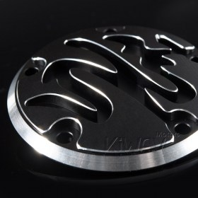VAWiK CNC Calligraphy contrast cut 5 hole point cover for Harley 1999-13 TWIN CAM 6061 aluminum alloy  point cover  points cover  timer cover  timing cover  ignition cover  ignition timing cover  edge cut softail   Dyna  Touring