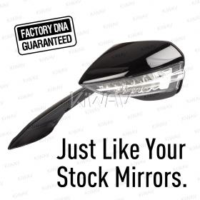 OEM quality replacement mirror FA-326 for Aprilia RSV4 1000 Racing Factory black with LED turn signal 1 piece LH