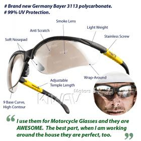 eye protection,Safety glasses, protective eyewear, safety spectacles, safety eyewear ( 10-Pack ),outdoor sports eyewear ,protective sports eyewear ,for workout and casual wear ,bicycle eyewear,Cycling eyewear ,impact resistance,Germany new material ,Made
