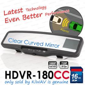 ABEO DVR-180G3 Clear Curved mirror Real Full HD CAR DVR Rear View Mirror G SENSOR accident crash camera recorder blackbox 16G SD card