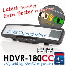 ABEO DVR-180G3 Clear Curved mirror Real Full HD CAR DVR Rear View Mirror G SENSOR accident crash camera recorder blackbox 4G SD card