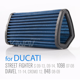 Magazi Air Filter for Ducati Diavel 1198 11-13,Street Fight 1100 09-13,848 08-13