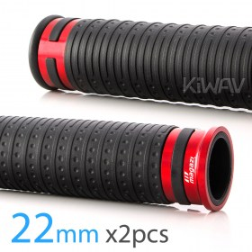 Magazi Cyber motorcycle grips anodized aluminum red trim 22mm 2pcs ATV UTV