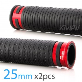 Magazi Cyber motorcycle grips anodized aluminum red trim 25mm 2pcs for 1