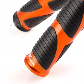 Magazi wave grips anodized aluminum orange trim a pair 25mm 22mm universal fit 7/8 inch handlebar