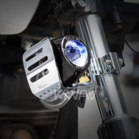 motorcycle scooter round fish-eye chrome fog auxiliary light Magazi