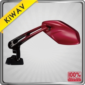 KiWAV Magazi Motorcycle Mirror Red Medusa sport