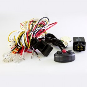 Wiring Harness Kit Cable WK-010, power on/off, lights on/off, LED on/off, 3 button switch, for car and motorcycle SIRIUS
