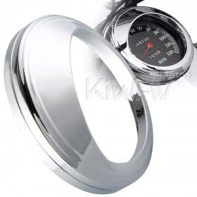 KiWAV 5 inch Speedometer Trim Ring Visor cover aluminum chrome plated