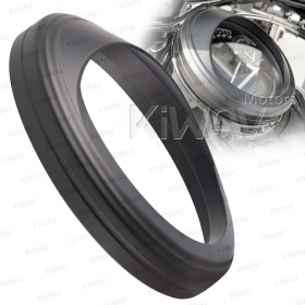 KiWAV 5 inch Speedometer Trim Ring Visor cover aluminum matte black