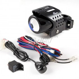 Magazi motorcycle round fisheye black fog auxiliary light with wire kits