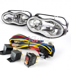 Sirius NS-119 dual fog driving Lights & Wiring Harness Set WK010