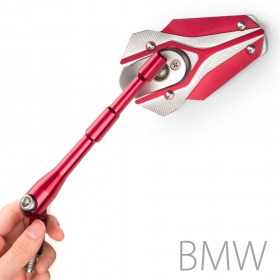 KiWAV Motorcycle Mirror Viper Red for BMW